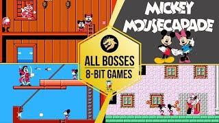 Mickey Mousecapad – All Bosses / Микки Маус: Приключения в Стране чудес – Все Боссы | Dendy 8-bit