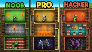 Minecraft - DUNGEON RAIDS! (NOOB vs PRO vs HACKER)