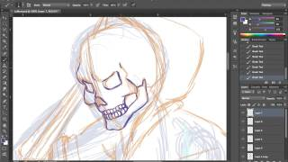 Speed Drawing 01 La Mort, pt. 1