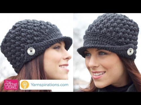 Left Hand: How to Crochet Women's Peak Hat