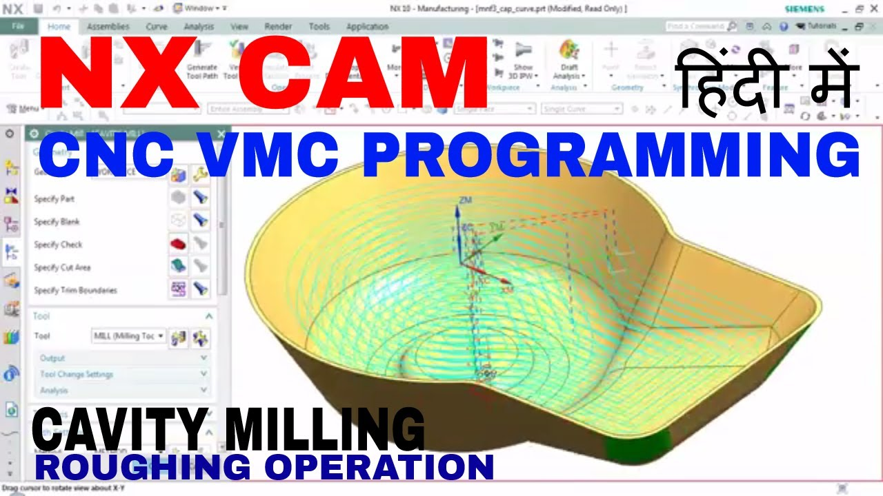Nx ug cnc programming milling cavity mill operation roughing nx ug cnc programming milling cavity mill operation roughing tutorial 2 cam solutions baditri Choice Image