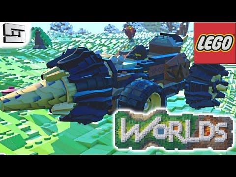 LEGO WORLDS - DRILLING MACHINE!  Alpha Gameplay