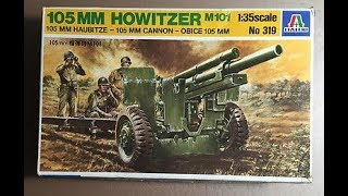 Italeri 105MM Howitzer 1/35 Model Kit Complete