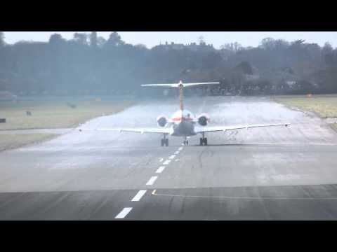 Royal Netherlands Goverment - Fokker 70 taking off at RAF Northolt