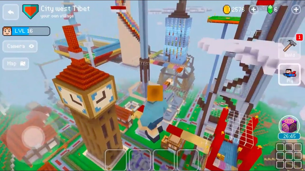 Block craft 3d mobile gameplay new flying ability for Block craft 3d online play