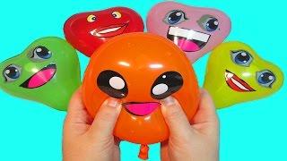 Шарики с водой Учим цвета Развивающее видео Детям Лопаем Воздушные шарики Поем песню Семья пальчики