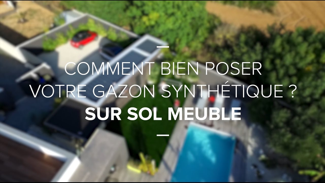 comment poser du gazon synth tique sur sol meuble youtube. Black Bedroom Furniture Sets. Home Design Ideas