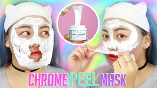 "NEW ""CHROME"" Peel Off Mask 