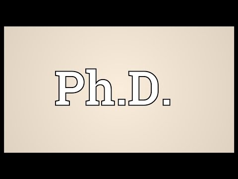 Ph.D. Meaning