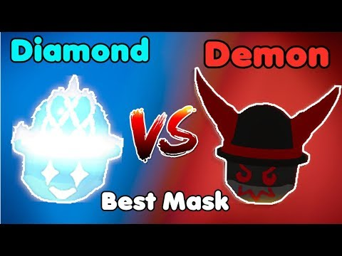 Diamond Mask VS Demon Mask! Best Mask In Game - Bee Swarm Simulator Roblox