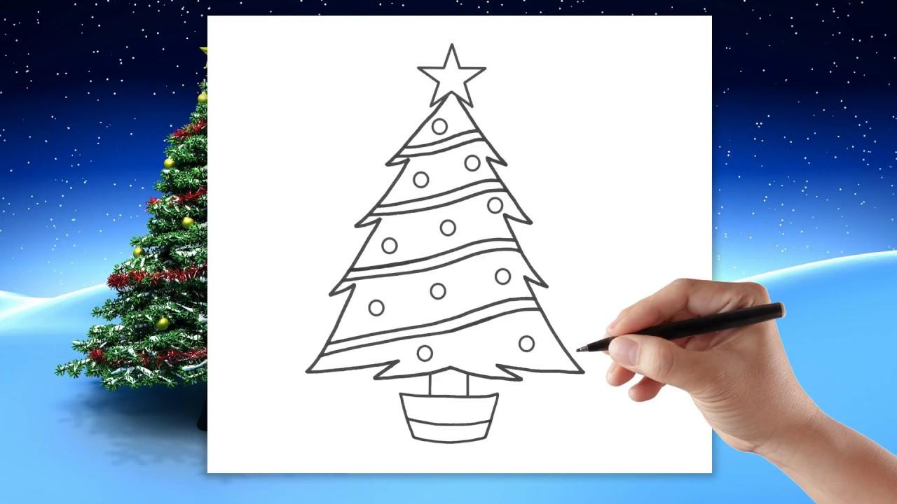 Choinka Jak Narysować Choinkę Rysowanie Dla Dzieci Krok Po Kroku