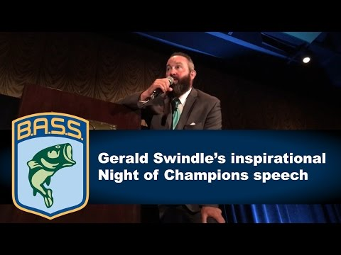 Gerald Swindle speaks about winning Angler of the Year at the Bassmaster Classic Night of Champions
