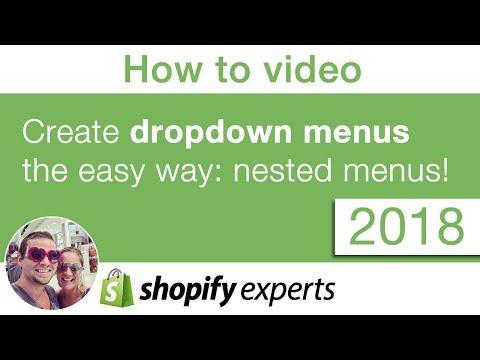 Shopify 2018 - How To Do Nested Menu Dropdown Or Multi Level Menus, Easy To Do!