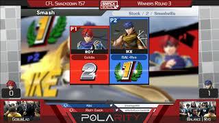 CFL Smackdown 157 WiiU - Goblinman (Roy) vs Balance | Ryo (Ike) - Winners R3