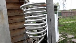 видео - воздушное охлаждение самогонного аппарата