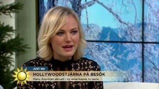 Malin Åkerman: Så firar jag jul i Sverige - Nyhetsmorgon (TV4)