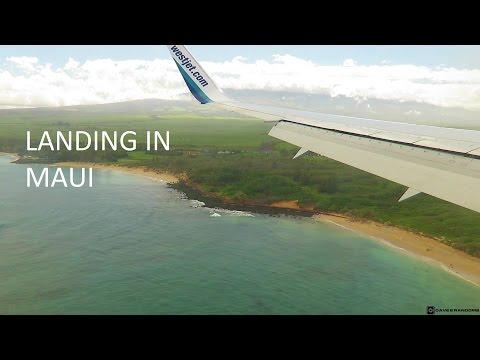 Rare And Unusual WestJet Boeing 767 Landing In Maui, Hawaii
