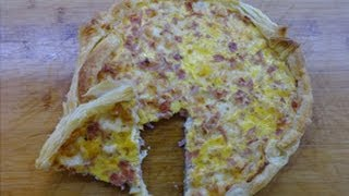Torta salata prosciutto cotto e formaggio (ricetta velocissima)!!!