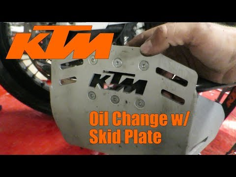 Oil Change on your KTM Adventure Bike w/  a Skid Plate | Back in the Garage