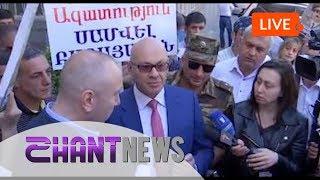 Բողոքի ակցիա դատախազության մոտ։ Պահանջում են ազատել Սամվել Բաբայանին: