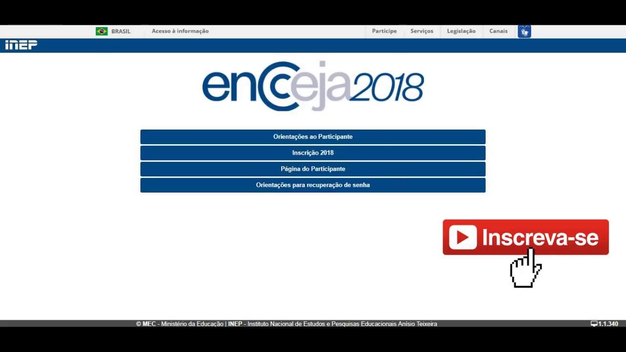 Encceja 2018 Inscrição Enccejanacional Inep Gov Br