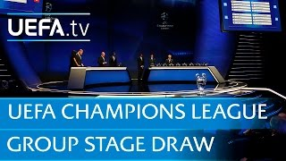 2015 UEFA Champions League group stage draw in full