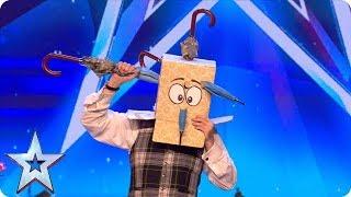 Professor Strange mixes magic with calamity! | Auditions | BGT 2018