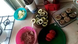 Фаршированные кабачки в духовке