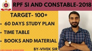 MISSION RPF SI & CONSTABLE 2018 60 DAYS STUDY PLAN WITH BOKS