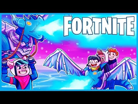 RIDING On ICE DRAGONS In Fortnite: Battle Royale! (Fortnite Funny Moments & Fails)