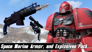 Fallout 4 Mods Week 24 - Space Marine Armor and Explosives Galore!