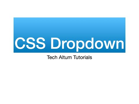 CSS Dropdown Menu | Css Full Width Dropdown Menu