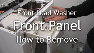 Frigidaire Front Load Washer - Front Panel Removal - Drain Pump Access