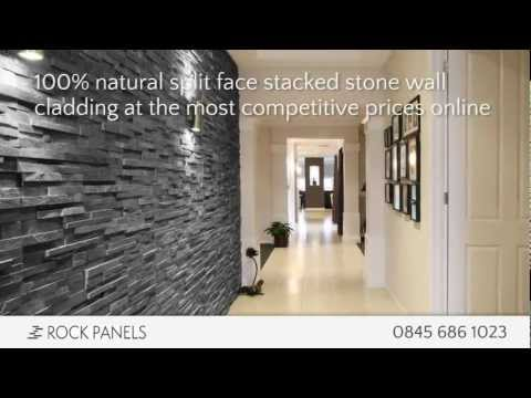 Rock Panels - Stacked Stone Wall Cladding - Split Face Stone Tiles - Natural Stone Wall Cladding