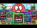 Красный Шарик в игре Плохие Свинки ! Red Ball 4 in Bad Piggies Game ! Для детей