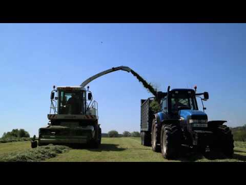 Silage cutting with Johnston Contractors