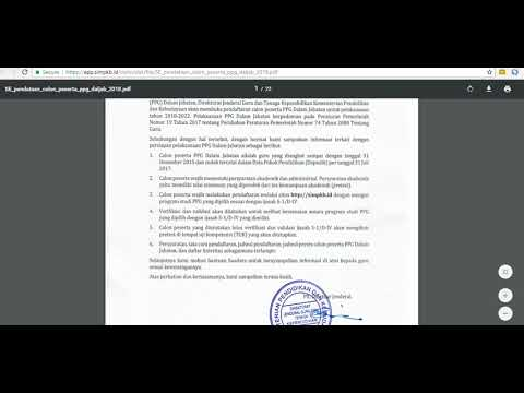 Cara Download Surat Undangan PPG 2018