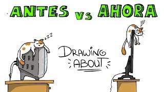 ANTES ☎️vs AHORA📱  | Drawing About