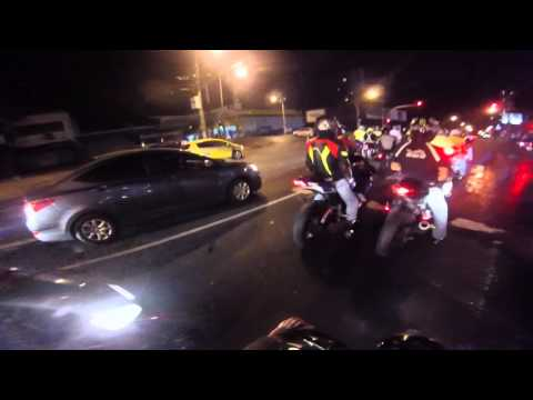 night ride panama clubs superbikes, cafe racer, street mod