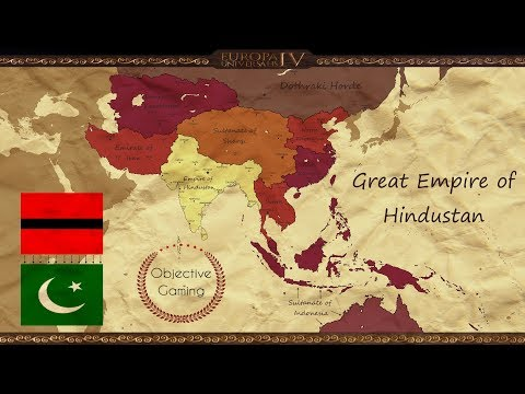 EU IV - Indian Emperor of China - Hindustan - Timelapse |