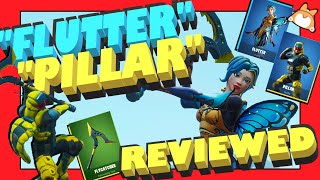 "Complete Honest Review: Fortnite ""FLUTTER"" Skin + ""PILLAR"" Skin + ""FLYCATCHER"" Pickaxe /NEW Itemshop"