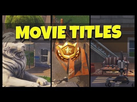 Fortnite: Search Between Movie Titles (White Lion, Orange Crusher, TV Dreams)