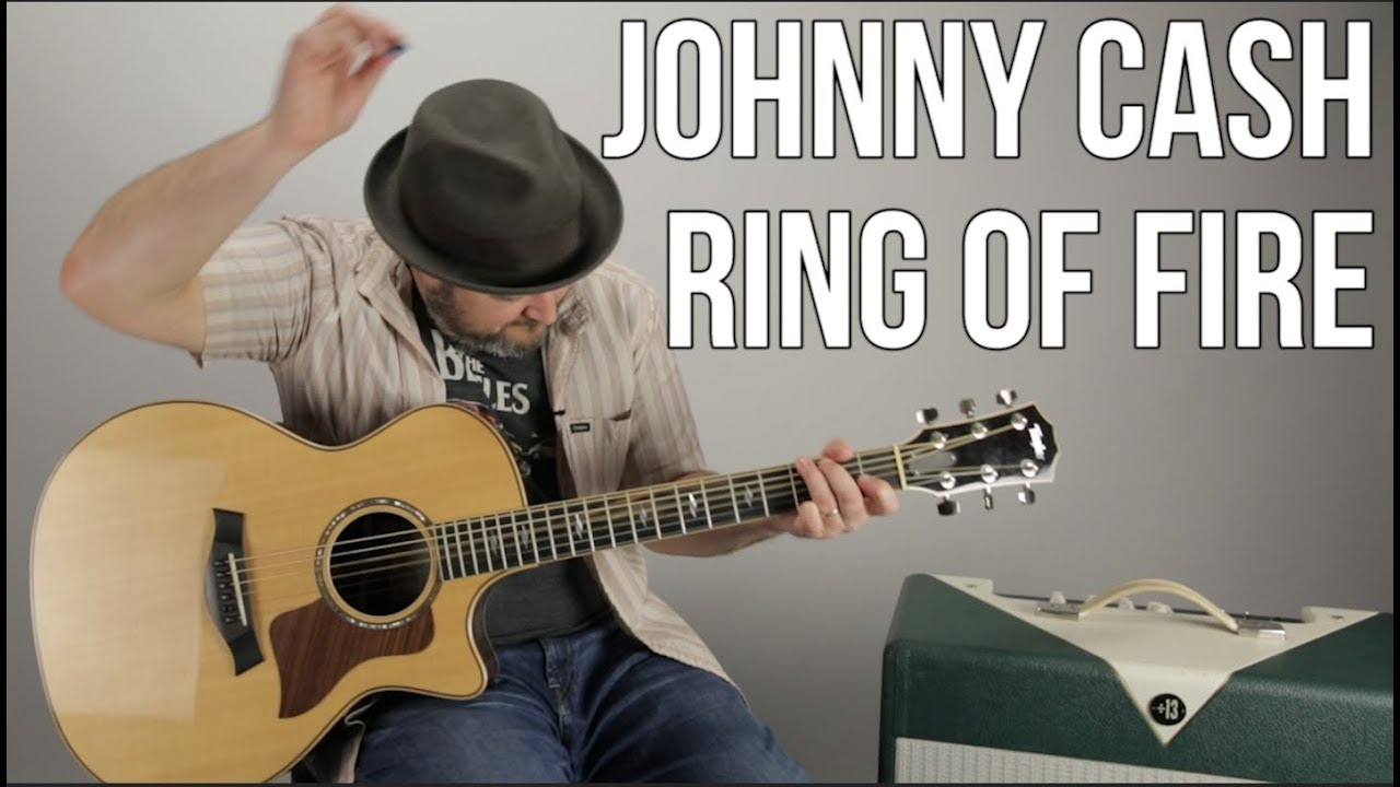 How To Play Ring Of Fire By Johnny Cash Easy Acoustic Youtube