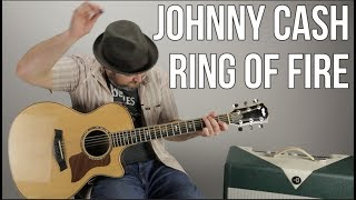 how to play ring of fire by johnny cash easy acoustic