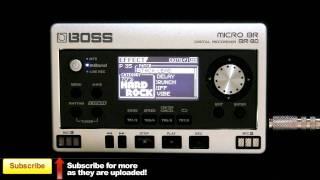 Boss Micro BR-80 - Presets Demo - Multi FX Electric Guitar Sounds