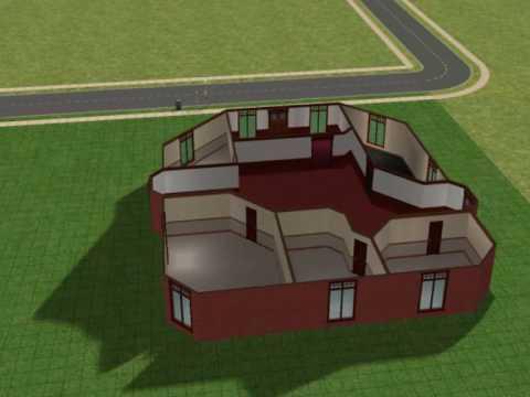 Casa de classe m dia alta simples youtube for Casa moderna sims 3 sin expansiones