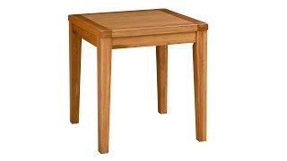 Vancouver Oak 75cm Square Café Table - Pinesolutions
