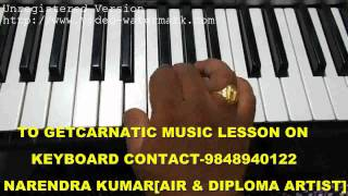Carnatic Music Lessons-Datu Swaram on Keyboard