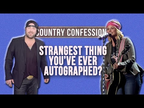 Country Confessions - What's the Strangest Thing You've Ever Signed? Mp3