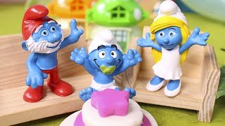 THE SMURFS Toys Episodes ❤️ Today is the birthday of baby smurf in the hidden village